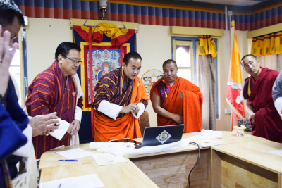 Launch of eLearning Bhutan (26th March 2020)