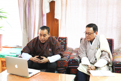 Hon'ble Minister and Officiating Secretary Dasho Karma Tshering met DEOs & TEOs over a video conference (6th March 2020)
